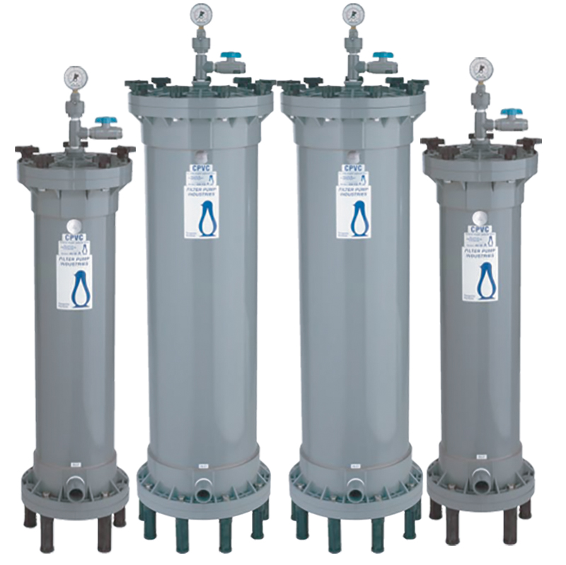Penguin filter chambers for pumps and filters