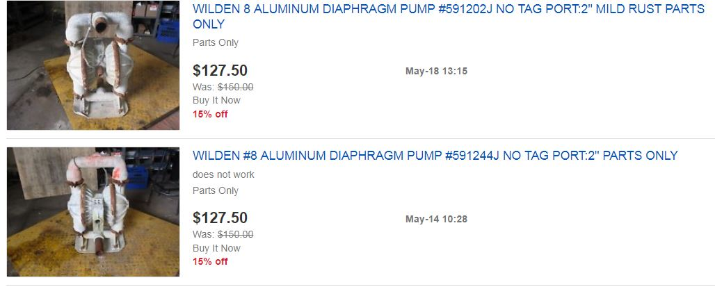 Ebay buying pump parts
